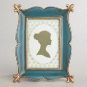 Blue and Gold Ornate Byrdie Frame