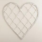 Whitewash Heart Cardholder