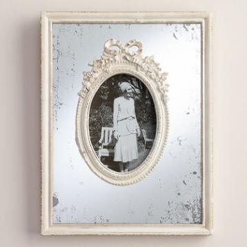 White Wooden Mirrored Margo Frame