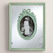 Aqua Wooden Mirrored Margo Frame