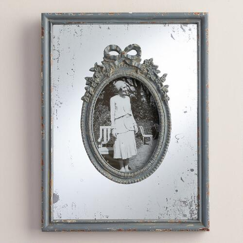 Gray Wooden Mirrored Margo Frame