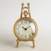 Gold Metal Darcy Easel Clock
