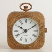 Gold Metal Lexi Pocket Watch Clock