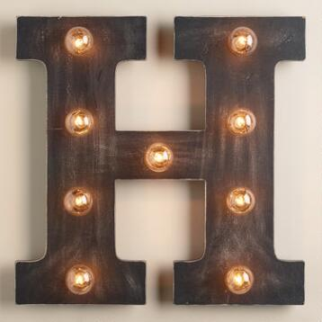 'H' Marquee Light