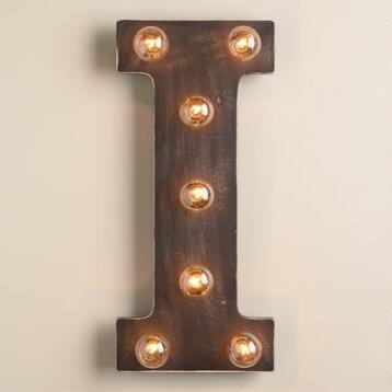 'I' Marquee Light