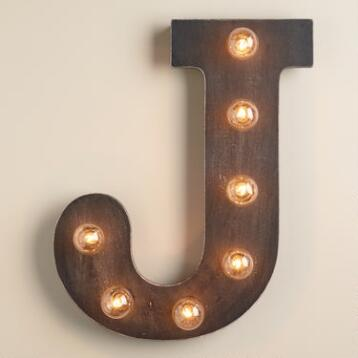 'J' Marquee Light