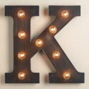 'K' Marquee Light