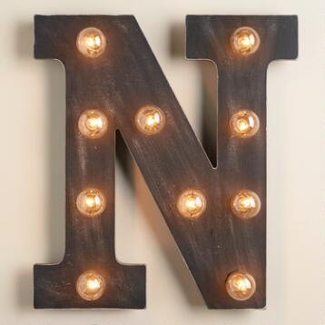 'N' Marquee Light