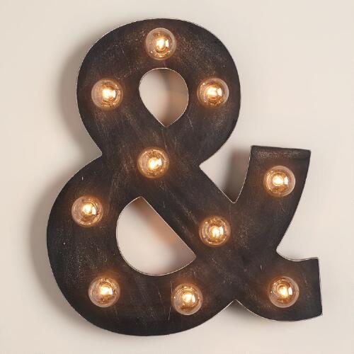 Ampersand Marquee Light