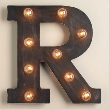 'R' Marquee Light