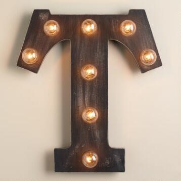 'T' Marquee Light
