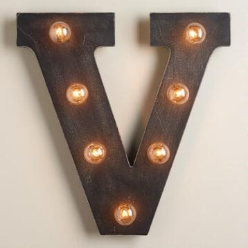 'V' Marquee Light