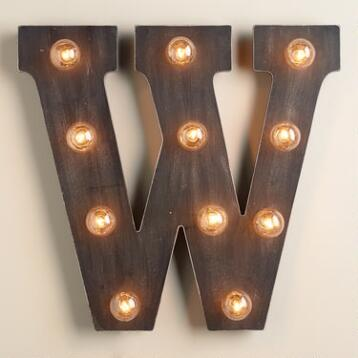 'W' Marquee Light