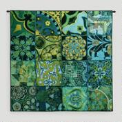 Teal Mosaic Wall Tapestry