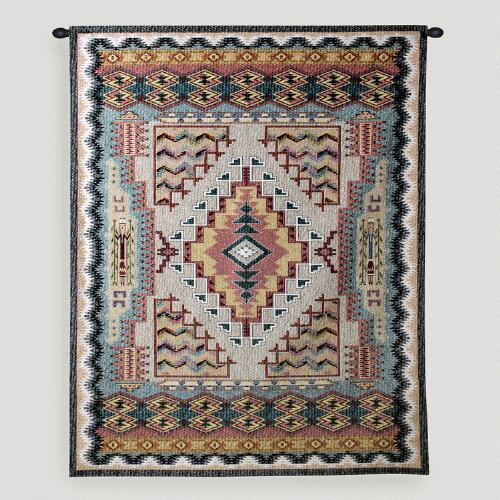 Turquoise Southwestern Wall Tapestry