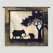 Serengeti Elephants Wall Tapestry