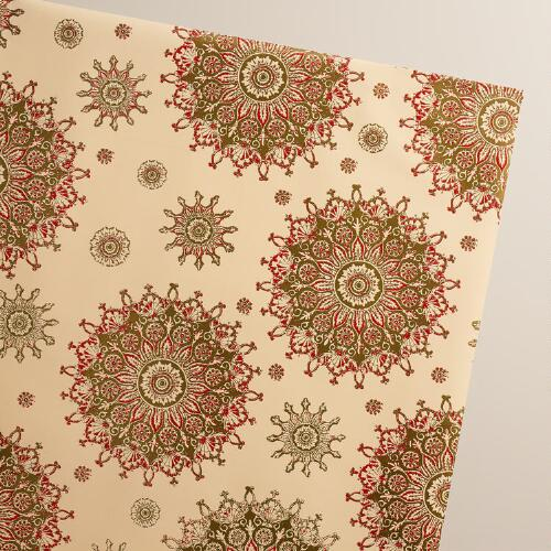 Snowflake Manor Jumbo Wrapping Paper Roll