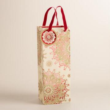Snowflake Manor Wine Bag