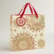 Medium Snowflake Manor Gift Bag