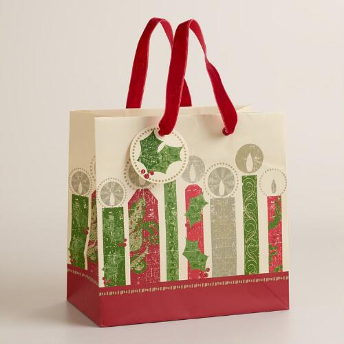 Small Buon Natale Candles Gift Bag