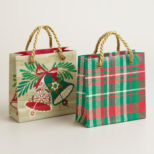 Mini Buon Natale Gift Bags, Set of 2