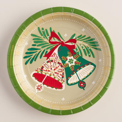 Buon Natale Paper Plates, 8-Count