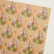 Fox & Hare Lodge Kraft Wrapping Paper Roll