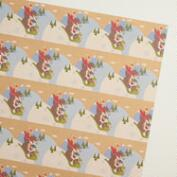 Fox & Hare Friends Sledding Kraft Wrapping Paper Roll