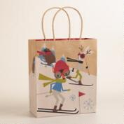 Medium Fox & Hare Skiing Gift Bag