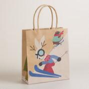 Small Hare Skiing Gift Bag