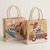 Mini Fox & Hare Gift Bags, Set of 2