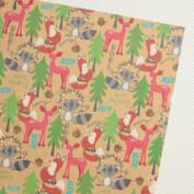 Foxes and Deer Kraft Wrapping Paper Roll