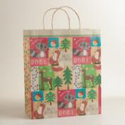Jumbo Foxes and Deer Gift Bag