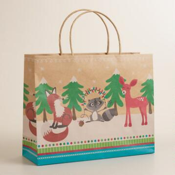Large Foxes and Deer Gift Bag