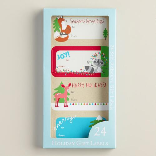 Foxes and Deer Gift Labels, Set of 24