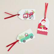 Retro Santa Gift Tags, Set of 6