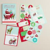 Retro Santa Gift Labels, 25-Sheets