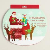 Retro Santa Placemats, 24-Count