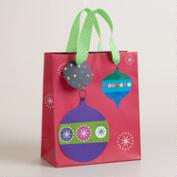 Small Mistletoe Wishes Ornaments Gift Bag
