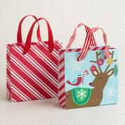Small Mistletoe Wishes Gift Bags, 2-Pack