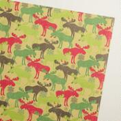 Scandi Moose Jumbo Wrapping Paper Roll
