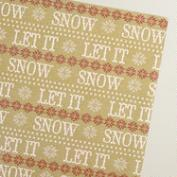 Scandi Let it Snow Wrapping Paper Roll