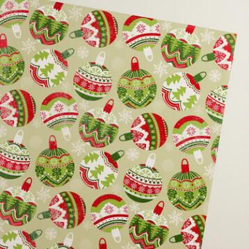 Scandi Ornaments Wrapping Paper Roll