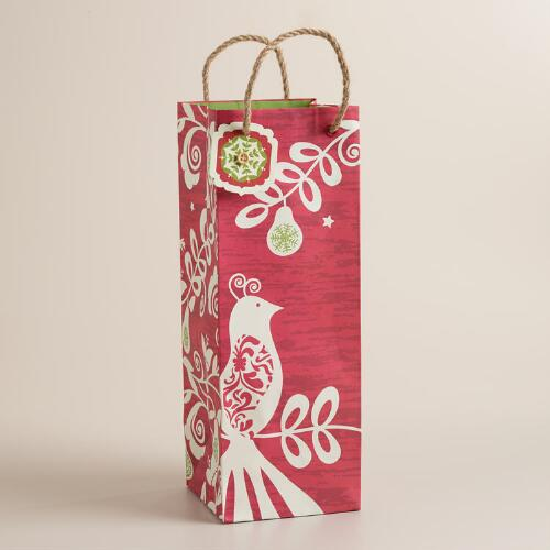 Suzani Bird Wine Bag