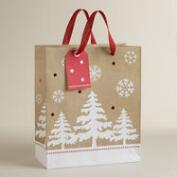 Large Trees and Burlap Gift Bag