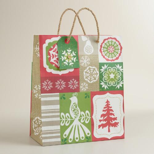 Large Patchwork Gift Bag