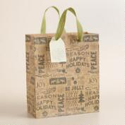 Medium Burlap Tree Gift Bag