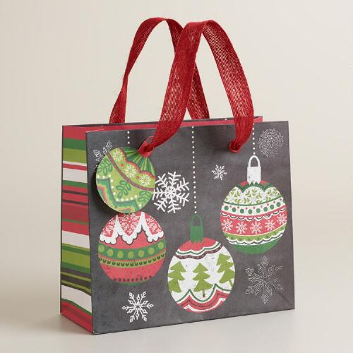 Small Scandi Ornaments Gift Bag