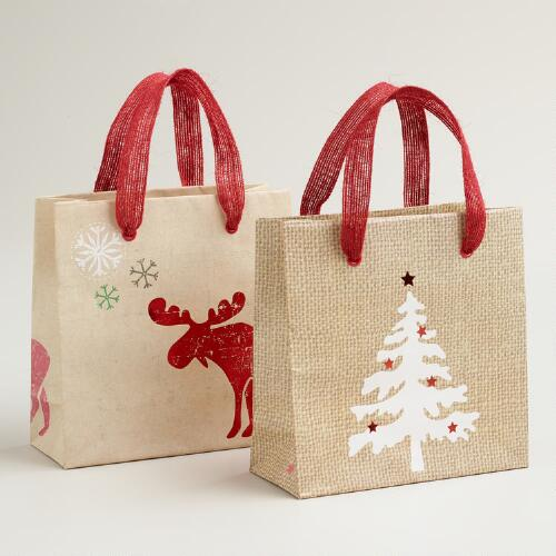 Mini Scandi Gift Bags, Set of 2