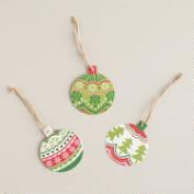 Scandi Ornaments Gift Tags, 6-Pack